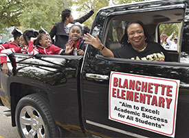 BISD Honors Black History Month with MLK Parade
