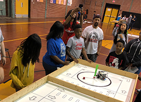 Students compete at the Robotics competition