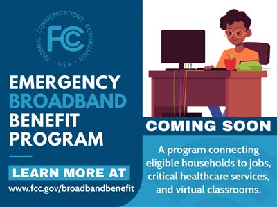 Smith Middle School Beaumont PLA. FCC's Emergency Broadband Benefit Program